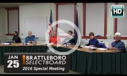 Brattleboro Selectboard Special Mtg. 1/25/16