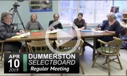 Dummerston Selectboard 4/10/19