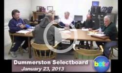 Dummerston Selectboard Mtg. 1/23/13