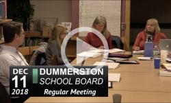 Dummerston School Bd Mtg 12/11/18