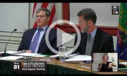 Brattleboro Selectboard Mtg. 11/1/16