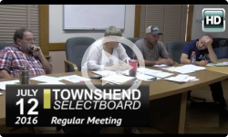 Townshend Selectboard Mtg 7/12/16