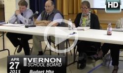 Vernon School Board: 4/27/15 Special Budget Mtg