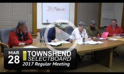 Townshend Selectboard Mtg 3/28/17