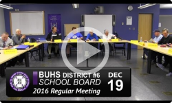 BUHS School Board Mtg 12/19/16