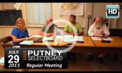 Putney Selectboard 7/29/15
