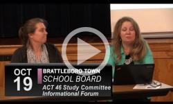 Brattleboro Town School Bd: Act 46 Public Forum 10/19/16