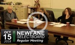 Newfane Selectboard Mtg 10/15/18