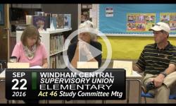 WCSU Elementary Act 46 Mtg 9/22/16