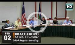 Brattleboro Selectboard Mtg 2/2/16