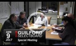 Guilford Selectboard Mtg 1/9/17