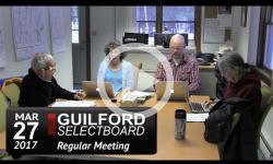 Guilford Selectboard Mtg 3/27/17