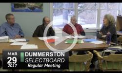Dummerston Selectboard Mtg 3/29/17