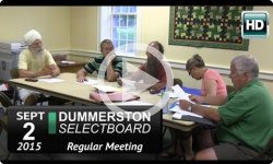 Dummerston Selectboard Mtg 9/2/15