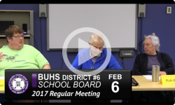 BUHS School Board Mtg 2/6/17