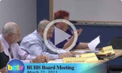 Brattleboro Union High School Board Mtg. 3/21/11