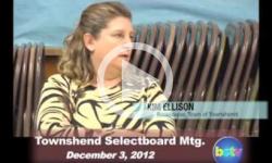 Townshend Selectboard Mtg 12/3/12