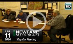Newfane Selectboard Mtg 4/11/16