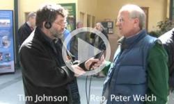 Rep. PeterWelch visits Brooks House, WTSA Interview