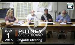 Putney Selectboard 7/1/15