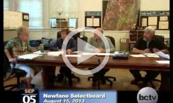 Newfane Selectboard Mtg. 9/5/13