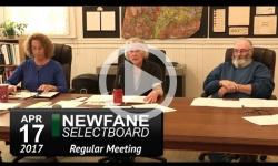 Newfane Selectboard Mtg 4/17/17