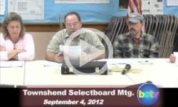 Townshend Selectboard Mtg. 9/4/12
