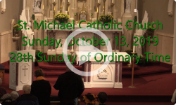 Mass from Sunday, October 13, 2019