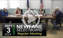 Newfane Selectboard Mtg 9/3/19