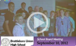 Brattleboro Union High School Bd. Mtg. 9/10/12