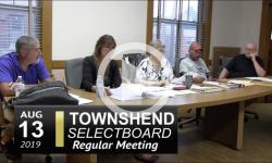 Townshend Selectboard Mtg 8/13/19