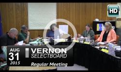 Vernon Selectboard Mtg 8/31/15