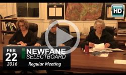 Newfane Selectboard Mtg 2/22/16