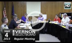 Vernon Selectboard Mtg 5/4/15