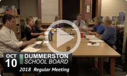Dummerston School Board Mtg 10/9/18