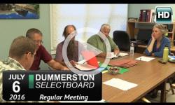 Dummerston Selectboard Mtg 7/6/16
