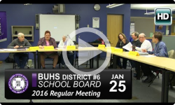 Brattleboro Union High School Bd Mtg 1/25/16