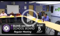 BUHS School Bd Mtg 6/5/17
