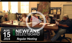 Newfane Selectboard Mtg 8/15/16