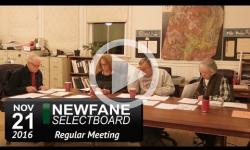 Newfane Selectboard Mtg 11/21/16