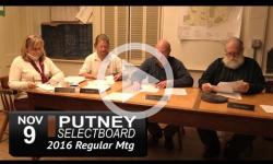 Putney Selectboard Mtg 11/30/16