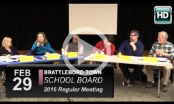 Brattleboro Town School Bd Mtg 3/2/16