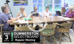 Dummerston Selectboard Mtg 7/3/19