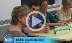 Brattleboro Union High School Bd. Mtg. 6/6/11 - part 1