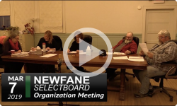 Newfane Selectboard Organizational Mtg. 3/7/19