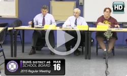 BUHS School Board Mtg 3/16/15