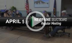 Newfane Selectboard: Newfane SB Mtg 4/5/21