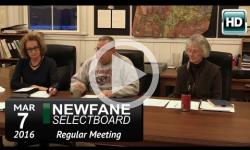 Newfane Selectboard Mtg 3/7/16