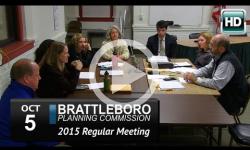 Brattleboro Planing Commission Mtg 10/5/15