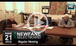 Newfane Selectboard Mtg 3/21/16